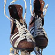 Vintage Pair Of Mens  Skates  Poster by Mikhail Olykaynen
