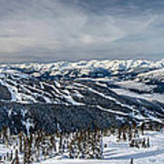Whistler Mountain Peak View From Blackcomb Poster