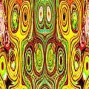 Woodcraft Ghosts Spirits Indian Native Aboriginal Masks Motif Symbol Emblem Ethnic Rituals Display H Poster