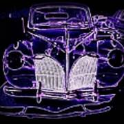41 Lincoln In Neon Poster