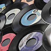 45 Records Nostalgia Poster