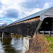 460 Foot Long New Hampshire Covered Bridge Poster