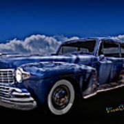 48 Lincoln Continental By Moonlight Poster