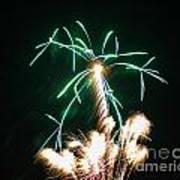 4th Of July 2014 Fireworks Bridgeport Hill Clarksburg Wv 2 Poster by Howard Tenke