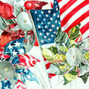 4th Of July Poster by Elizabeth  McRorie