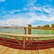 4x1 Anna Maria Island Rod And Reel Pier Poster
