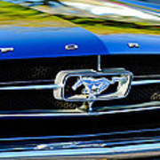 1965 Shelby Prototype Ford Mustang Grille Emblem Poster