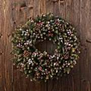 Advent Christmas Wreath Decoration Poster