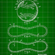 Baseball Patent 1927 - Green Poster