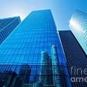 Business Skyscrapers Poster by Michal Bednarek