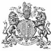 Coat Of Arms Great Britain Poster