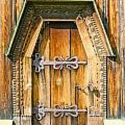 Detail Of The Door Of A Typical Ukrainian Antique Orthodox Churc Poster