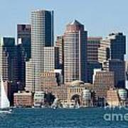 Downtown Boston Skyline Poster