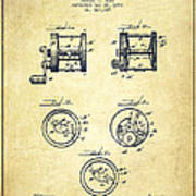 Fishing Reel Patent From 1892 Poster