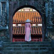 Girl In Ao Dai (traditional Vietnamese Poster