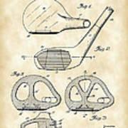 Golf Club Patent 1926 - Vintage Poster