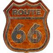 Historical Route 66 Sign Illustration Poster