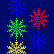 5 Ice Crystals seen througt an Electron Microscope might inspire you to have a Marry Chris Poster