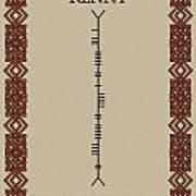 Kenny Written In Ogham Poster