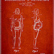 Manikin For Teaching Obstetrics And Midwifery Patent From 1951 - Poster