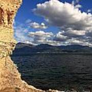 Martello Tower Near St Florent In Corsica Poster