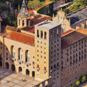 Monastery In Montserrat Poster