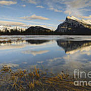 Mt. Rundle And Vermillion Lake Poster