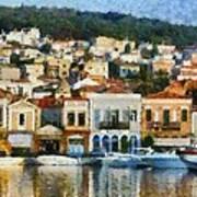 Mytilini Port Poster