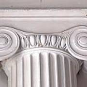 Neoclassical Ionic Architectural Details Poster
