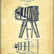 Photographic Camera Patent Drawing From 1885 Poster by Aged Pixel