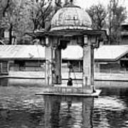 Premises Of The Hindu Temple At Mattan With A Water Pond Poster
