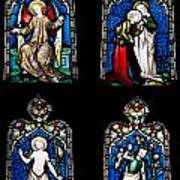 Religious Stained Glass Windows Poster