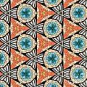 Seamlessly Tiled Kaleidoscopic Mosaic Pattern Poster