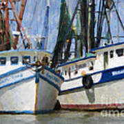 Shrimp Boats On The Creek Poster