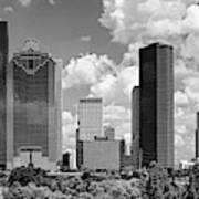 Skyscrapers In A City, Houston, Texas Poster