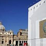 St Peter's Square. Vatican City. Rome. Lazio. Italy. Europe  Poster