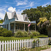 Sullivan's Island Tin Roof Story Book Cottage Poster