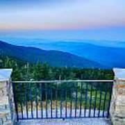 Top Of Mount Mitchell Before Sunset Poster