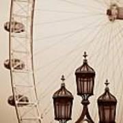Vintage Lamp Post Poster