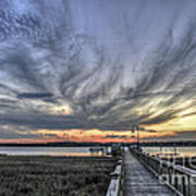 Wando River Sunset Poster
