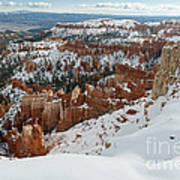 Winter Scene, Bryce Canyon National Park Poster