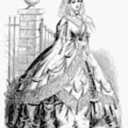 Women's Fashion, 1860 Poster