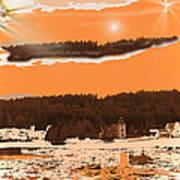 Space Landscape Poster