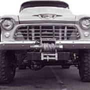 56 Chevy Truck In Bw Poster