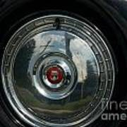 56 Ford Thunderbird Spare Hub Cap Poster