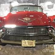 56 Red Cadillac Poster