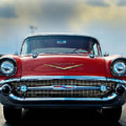 57 Chevy Full Frontal Poster