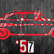 57 Chevy License Plate Art Poster
