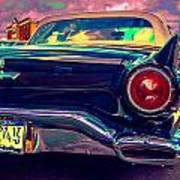 57 Ford T Bird Tail Poster