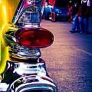 57 Pontiac Tail Light Poster